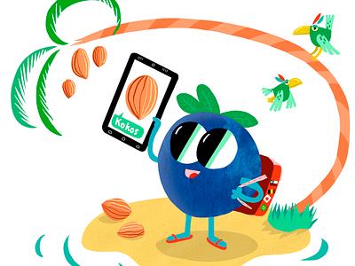 Blueberry Character for Nomadsskolan character design childrens illustration branding characterdesign characters design illustration