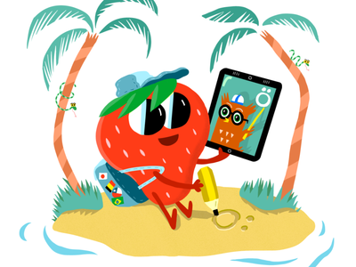Nomad Strawberry illustration childrens illustration characters character design characterdesign