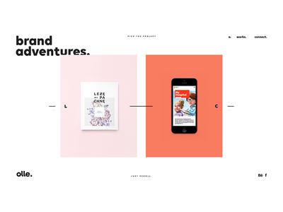 Olle Dribble site webdesign logos brand website ollestudio olle black white minimal
