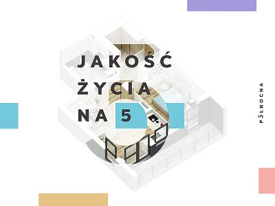 Północna 5 KV mark whitespace clean branding development life realestate colorful minimal