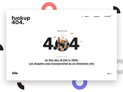 Ollestudio 404 page less simply webdesign fun clean brand 404 minimal portfolio