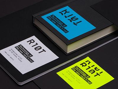 Riot Branding versatile technology stationery minimal logo identity colors branding agency