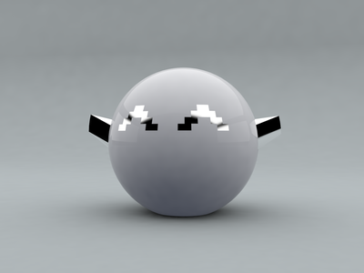 Moon graphic design artwork concept render character game