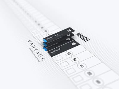 Concept art for calendar project sketchapp ux ui design ui sketch perspective non-flat mobile graphic design design concept calendar app