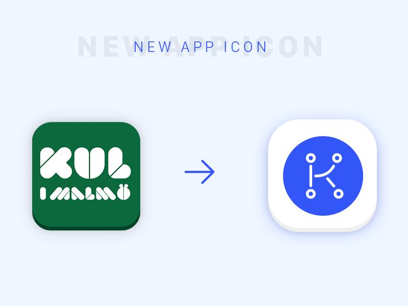 App icon redesign of event finder app sweden redesign rebranding malmö icon eventfinder event app
