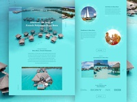 Bora-Bora Website Design | UI Landing Page