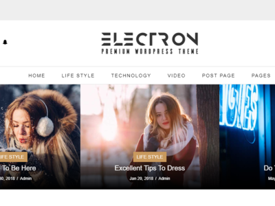 Electron - Free Blog Bootstrap Html Website Template
