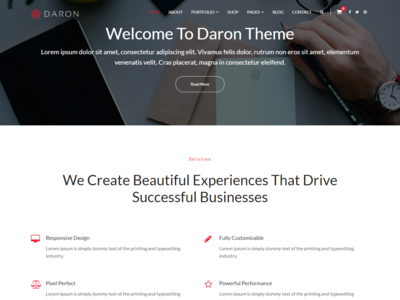 Daron - Free Business & Service WordPress Theme