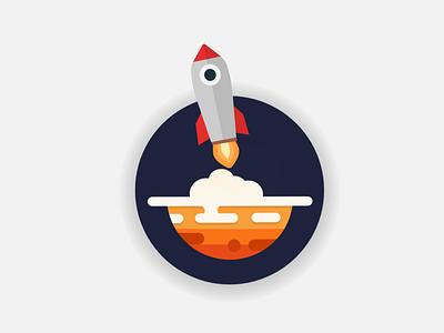 Takeoff minimal flat logo illustration voxei vector icon design