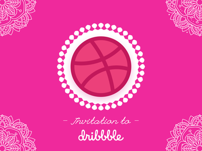 1 Dribbble Invitation artist art vector illustraion community web design website designer design dribbble invitation dribbble best shot dribbble invite dribbble uiux ui invite android app design android app ui