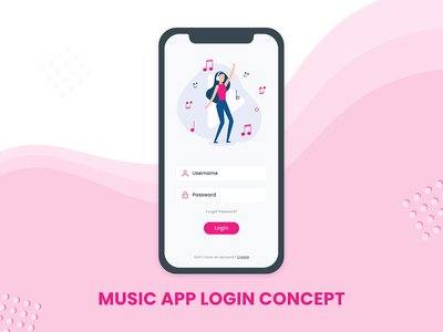 Music App Login Concept app mobile design mobile app design mobile ui mobile apps ui design mobile app android app login concept firstshot dribble mobile login music app music