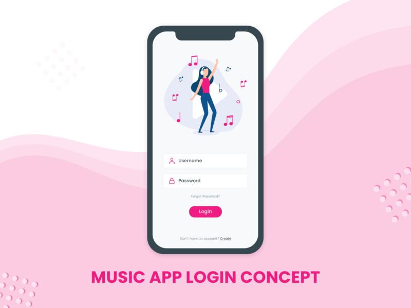 Music App Login Concept app mobile design mobile app design mobile ui mobile apps ui design mobile app android app login concept firstshot dribble mobile login music app music