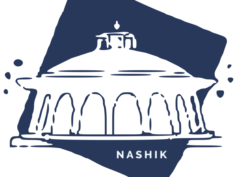 Hometown Sticker for Dribbble Weekly Warm-Up 1 dribbbleweeklywarmup creative process illustration nashik drawing dribbble weekly warm-up try new things practice play learn grow experiment design community