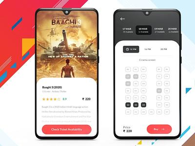 Events & Movie Ticket booking App illustration branding ux android app b2cinfosolutions appdesign ui app development