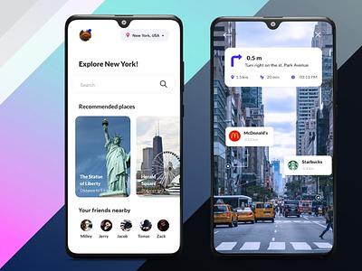 Travel App with AR Assitance arassistance travelapp ios app branding ux android app b2cinfosolutions appdesign ui app development