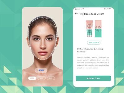 AR Assited Skincare app skincareapp android app b2cinfosolutions ux ui app development