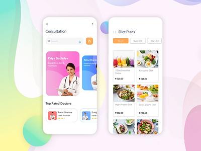 Doctor's app app designing android app b2cinfosolutions appdesign ui app development