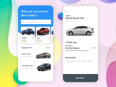 Car Rental App carrentalapp branding ux ui b2cinfosolutions app development