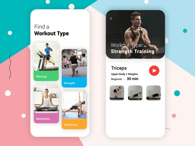 Fitness App with In- Built Digital Trainer covid-19 fitnessapp ui illustration androidapp app designing android app b2cinfosolutions app development