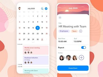 Event Planning App covid-19 app designing android app ui b2cinfosolutions app development