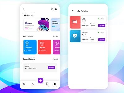 insurance app covid19 ios insurance app ux android app ui b2cinfosolutions app development