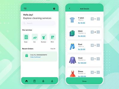 laundry app covid19 laundry app ux android app appdesign b2cinfosolutions ui app development