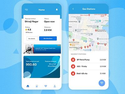 Gas and Petrol Pump App gasapp covid19 app branding app designing appdesign android app b2cinfosolutions app development