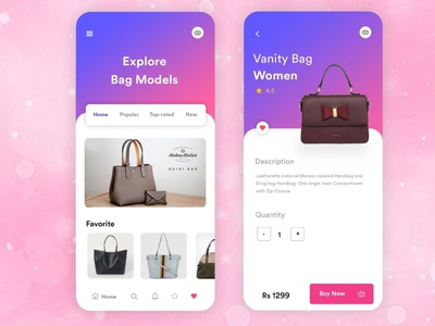 Women's Bag App b2cinfosolutions appdevelopers covid19 appdevelopment appdesign ux ui
