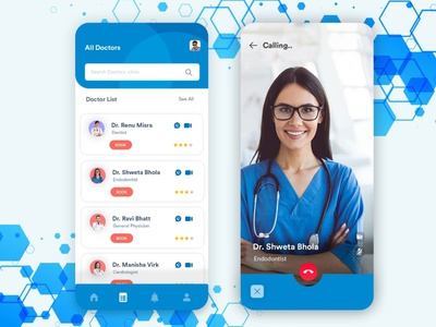 Customized Doctor's App illustration appdesign app designing covid19 b2cinfosolutions ui app development