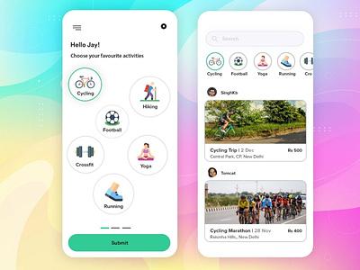 Sports App app designing androidapp ui ux appdesign illustration branding covid19 b2cinfosolutions app development