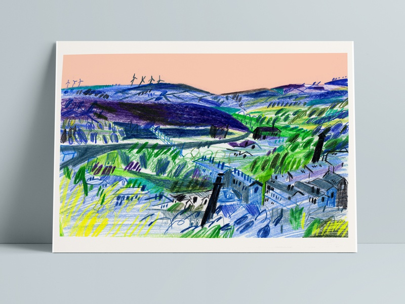 Yorkshire animated gif landscape artists landscape art paint landscape traditional design book cover gouache illustration illustrated