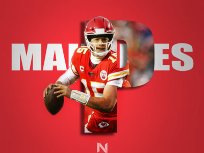 Patrick Mahomes Letter Concept Poster