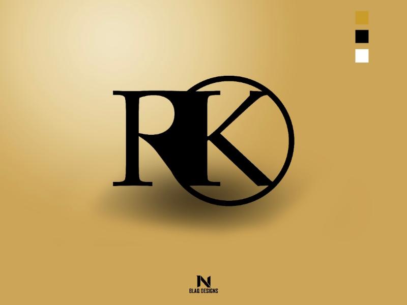 RK logo Colour Display (Gold) vector ui print poster photoshop minimal logo illustration graphicdesign graphic design flat digital design concept branding brand black artwork art