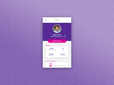 #DailyUI - 006 - User Profile