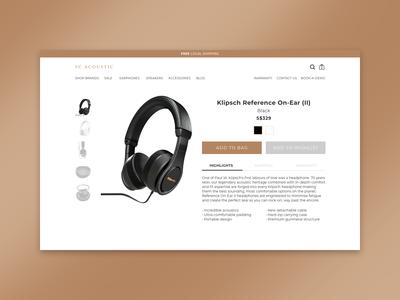 #DailyUI - 012 - E-Commerce Shop (Single Item)
