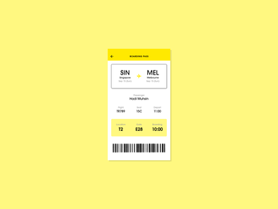 #DailyUI - 024 - Boarding Pass