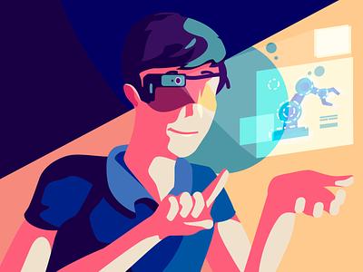 UX4SIGHT - AR Illustration art character art direction illustration vector augumented reality vr ar design
