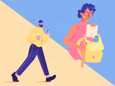 Venture List - Character Exploration on the go busy playful art direction illustration design character