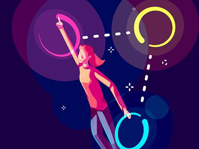UX4Sight - Design Illustration movement vector illustration art direction artist character neon design