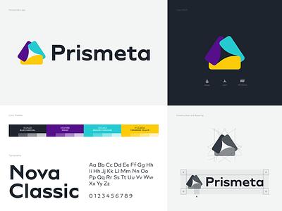 Prismeta - Brand Design typography illustrator logo big data data technology branding design