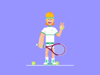 Old-fashioned tennis player 🎾