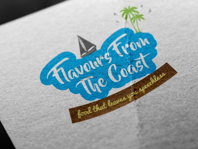 Flavours From The Coast Hotel Logo Design web art flat minimal icon vector ui design 3d architecture mascot illustration art designer logo logodesign graphicdesign