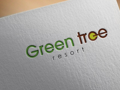 GREEN TREE RESORT youtuber digitalart photography illustraion illustrator photoshop nature illustration nature logo green minimal icon illustration art graphicdesign designer flat art design 3d architecture logodesign logo