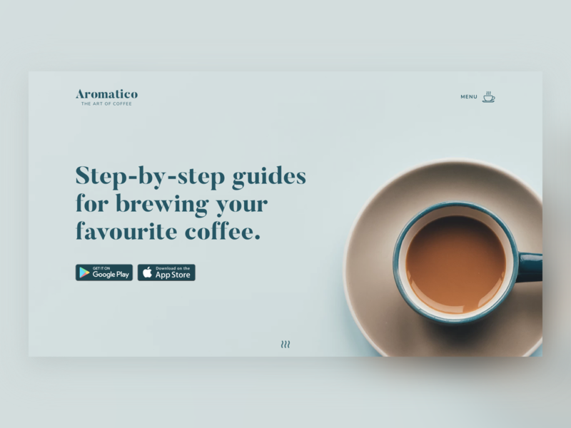 Coffee App Landing Page