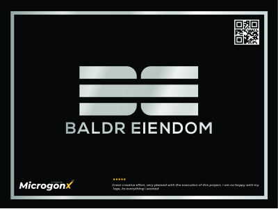BALDR EIENDOM type animation ux vector ui graphic design typography minimal logo illustration design branding