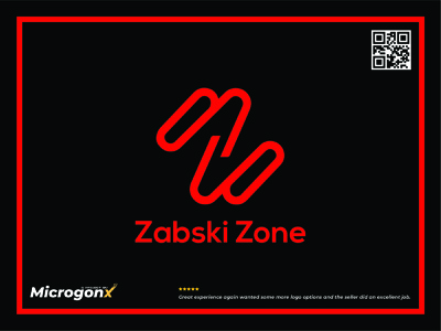 Zabski Zone icon ux web design business card design type ui animation vector graphic design typography minimal logo illustration design branding