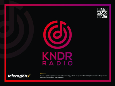 KNDR Radio type brochure design business card design ui animation graphic design vector typography minimal logo illustration design branding