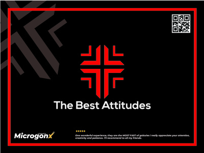 The Best Attitude business card design ux webdevelopment web design ui animation graphic design vector typography minimal logo illustration design branding