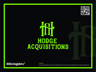 Hodge Acquisitions typeface business card design type ui animation graphic design vector typography minimal logo illustration design branding