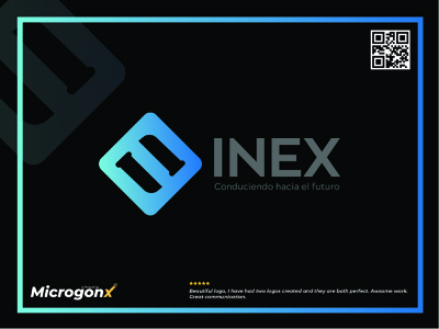INEX type business card design ui animation graphic design vector typography minimal logo illustration design branding